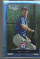 WILL LAMB  2012 BOWMAN CHROME PROSPECTS BLUE WAVE REFRACTOR #BCP114