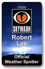 Official SKYWARN Severe Weather Spotter ID Name Badge - NOAA NWS Free Shipping!