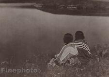 1900/72 Photogravure NATIVE AMERICAN INDIAN Piegan Tribe Art EDWARD CURTIS 11x14
