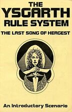 THE YSGARTH RULE SYSTEM THE LAST SONG OF HERGEST VF! RAGNAROK ENTERPRISES 1982