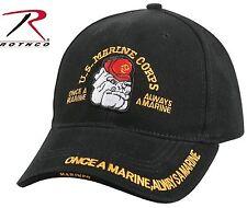 Marines Bulldog ONCE A MARINE, ALWAYS A MARINE Baseball Cap Mens Black USMC Hat