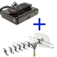 HDTV Outdoor  Amplified Antenna Set Kit HD TV 36dB Rotor 360 UHF VHF FTA Booster