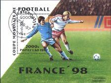 Laos Bloque 163 (edición completa) usado 1997 Fútbol-WM ´98, Francia