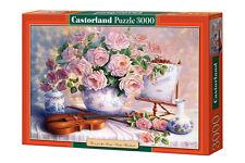 Puzzle 3000 ROSES TRISHA HARDWICK  jigsaw ROZE CASTORLAND *JBook