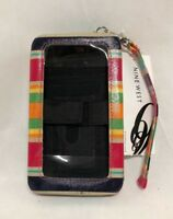 Nine West Multi-Colored Hard Shell Phone Case With Credit Card Slots NEW