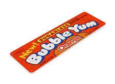 TIN SIGN B735 Orange Bubble Yum Gum Chewing Gum Retro Food Candy Metal Decor
