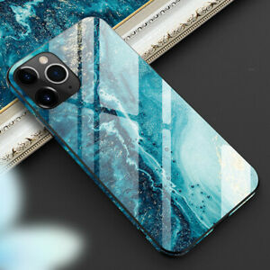 Shockproof Marble Tempered Glass Case Cover For iPhone 11 12 Pro Max XS XR 7 8+