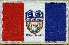 CLEVELAND OHIO Flag Patch With VELCRO® Brand Fastener WHITE Border #05