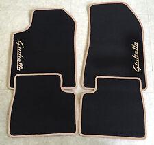 Autoteppich Fußmatten für Alfa Romeo Giulietta Schrift/beige Seite 4tlg Neuware