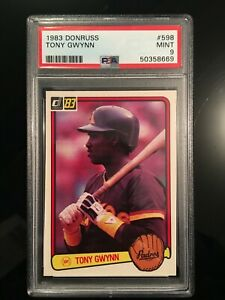 1983 Donruss Tony Gwynn Rookie RC #598 PSA 9 HOF