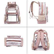 Fashion Women Travel Bags Office Backpack Transparent PVC Personality Schoolbag