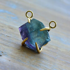 Fluorite Link Pendant Claw - 24K Gold Plating Gemstone Jewelry Making Supplies