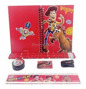 Disney Toy Story Red Stationary Set Pencils Ruler Eraser 8pc