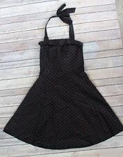 Modcloth Pinup Morbid Threads Black Halter Red Stars Full Skirt Dress Small