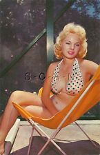 Org Vintage 1940s-60s Semi Nude Pinup PC- Restful Moments- Blond- Bikini- Winks