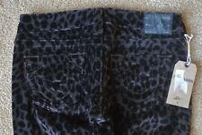 TRUE RELIGION STELLA SEXY Animal Printed Velvet Jeans 26X34 NWOT$319 Black&Taupe