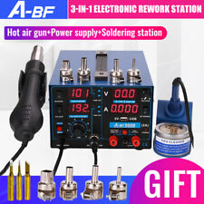 Electronic Rework Station Repair Soldering Iron Station Hot Air Gun Power Supply