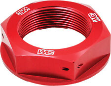 WORKS STEERING STEM NUT (RED) Fits: Honda CRF450R,CRF250R,CRF250X,CRF450X,CR125R