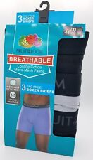 Boxer Briefs Fruit of the Loom Men's 3 Pack Cooling Breathable Size 2XL