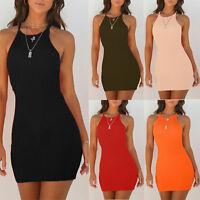 Women Bodycon Short Mini Dress Summer Sleeveless Evening Party Cocktail Clubwear