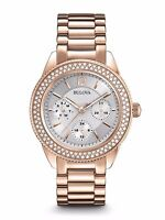 Bulova Women's Quartz Swarovski Crystal Accents Gold-Tone 38mm Watch 97N101
