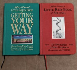 2 Jeffrey Gitomer Hardback Books - Little Red Book Of Selling & Getting Your Way