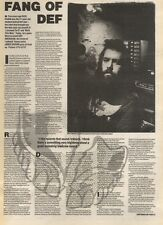 8/7/89Pgn23 Article & Picture 'fang Of Def' Rick Rubin On 'redneck' Heavy Metal
