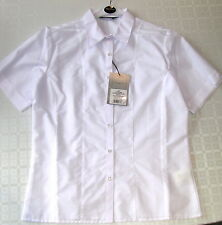 Girls Short sleeve white blouse Blue Max fitted