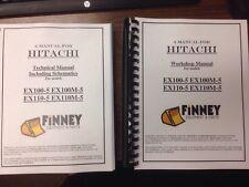 Hitachi EX100-5 EX110-5 EX100M-5 Excavator REPAIR SERVICE Manual TWO VOLUME book