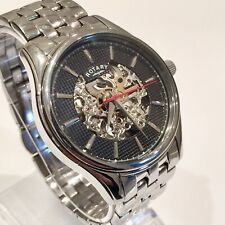 Genuine Rotary Skeleton Automatic Mens Dress Formal Watch Swiss Est RRP £200