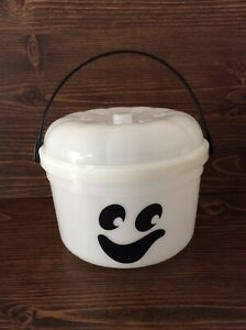 Vintage McDonalds Halloween Bucket Glow in the Dark Ghost Candy Pail New 1986