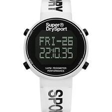 BRAND NEW SUPERDRY Unisex Digi Pedometer Chronograph Watch SYG203W