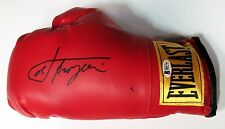 Smokin Joe Frazier Signed Red Everlast Boxing Glove BAS B81743