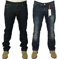 Mens Brand New DML Stockwell Denim Jeans Straight Leg in Blue Wash Colour 30-38