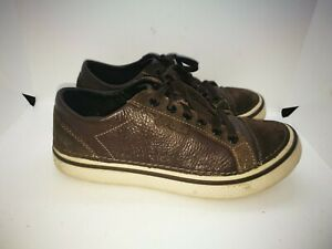 Crocs brown leather casual trainers size 6