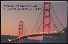 2018-S San Francisco Mint Silver Reverse Proof Set *Low Mintage* *Original GP*
