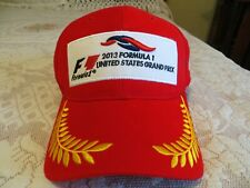 NWOT Men's Licensed  Formula 1 Racing Red 2013 United States Grand Prix Hat NEW