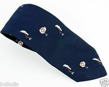 EUC Alex Originals Handmade neck tie Golf Hole in One Navy Blue Vintage BRIAR