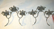 2 Antique Country Primitive Usa Equestrian Horse Brass Chrome Chime Sleighbells