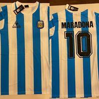 Maradona 10 Customized 1986 Argentina Home Retro Soccer Jersey Size XL Adult