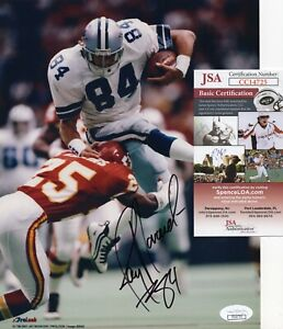 Jay Novacek - Dallas Cowboys - Autographed 8x10 w JSA COA