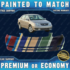 NEW Painted To Match Front Bumper Replacement for 2003-2004 Toyota Corolla Sedan