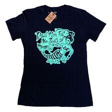 Lucky 13 Gothic Rockabilly Punk Dead Men Mermaid Womens Black T Shirt Size M