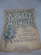 Vergeet Mij Niet! Ferry / H.J. Baumgart. Años 30. Willy Derby. Piano. Ilustrada