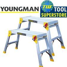 2x Youngman Odd Job Folding Platform Bench Hop Step Up Decorators Plasterers DIY