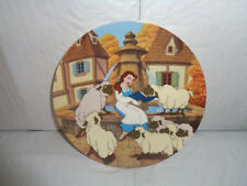 "1993 Disney - "" Belle's Favorite Story"" - 7th Plate in Beauty & Beast Collection"