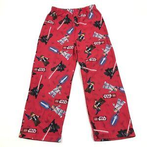 Lego Star Wars Pajama Pants Kids Size 10 Youth Red Straight  Leg Pjs Darth Vader