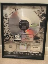 More details for rage against the machine self titled album riaa platinum record award disc