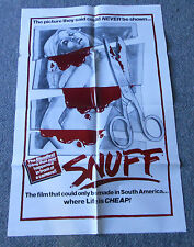 1975 SNUFF grindhouse movie poster ~ 27 x 40
