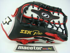 "JAPAN SSK Special Pro Order 13"" Outfield Baseball / Softball Glove Black Red RHT"